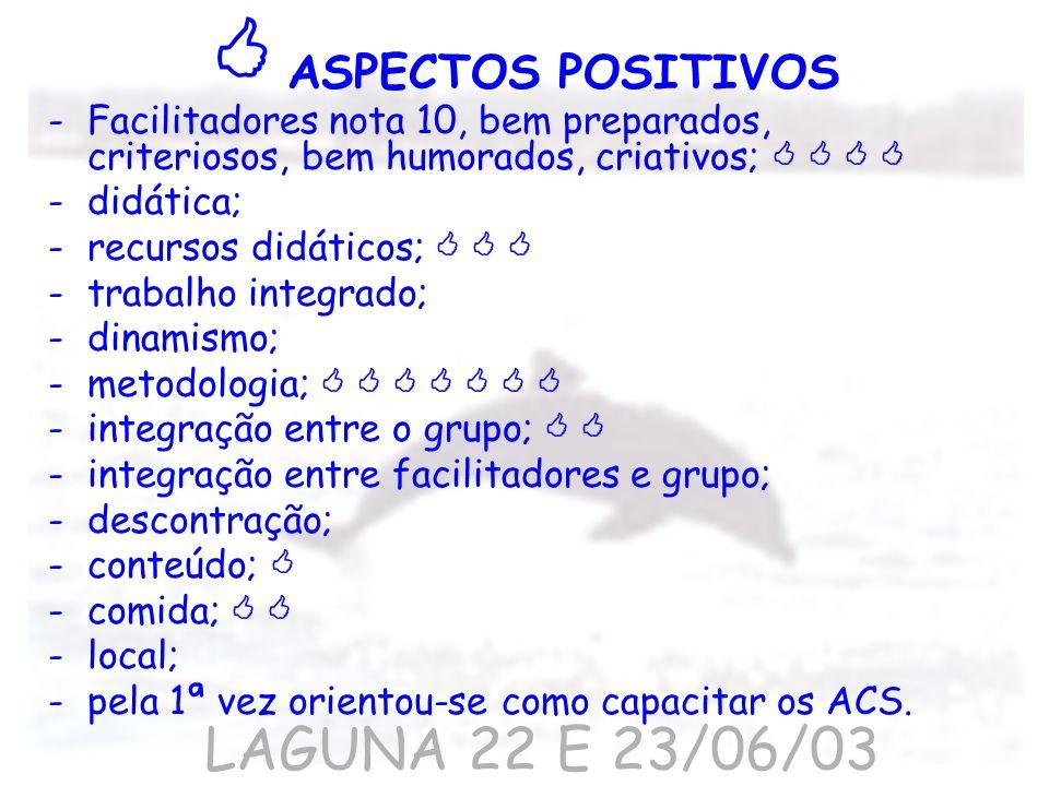  ASPECTOS POSITIVOS LAGUNA 22 E 23/06/03