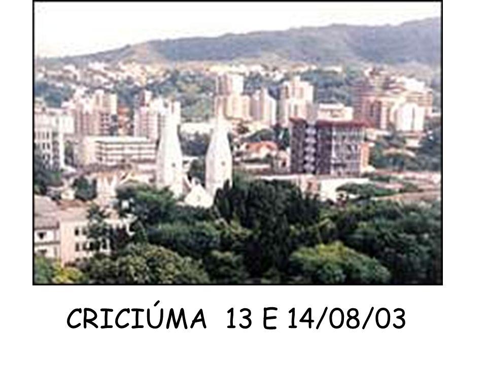 CRICIÚMA 13 E 14/08/03