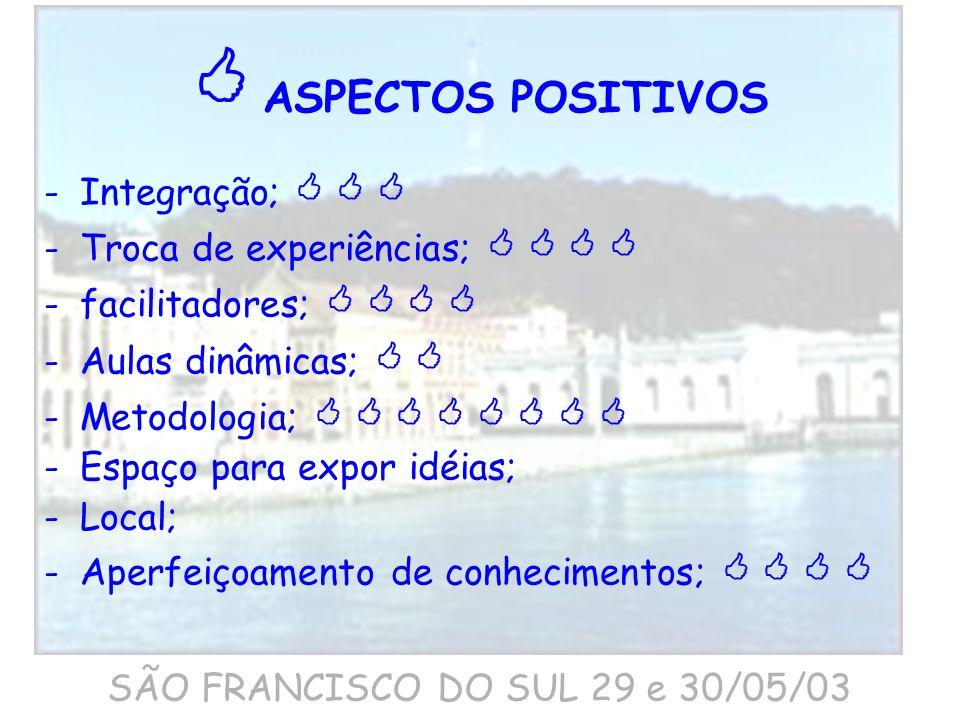 SÃO FRANCISCO DO SUL 29 e 30/05/03