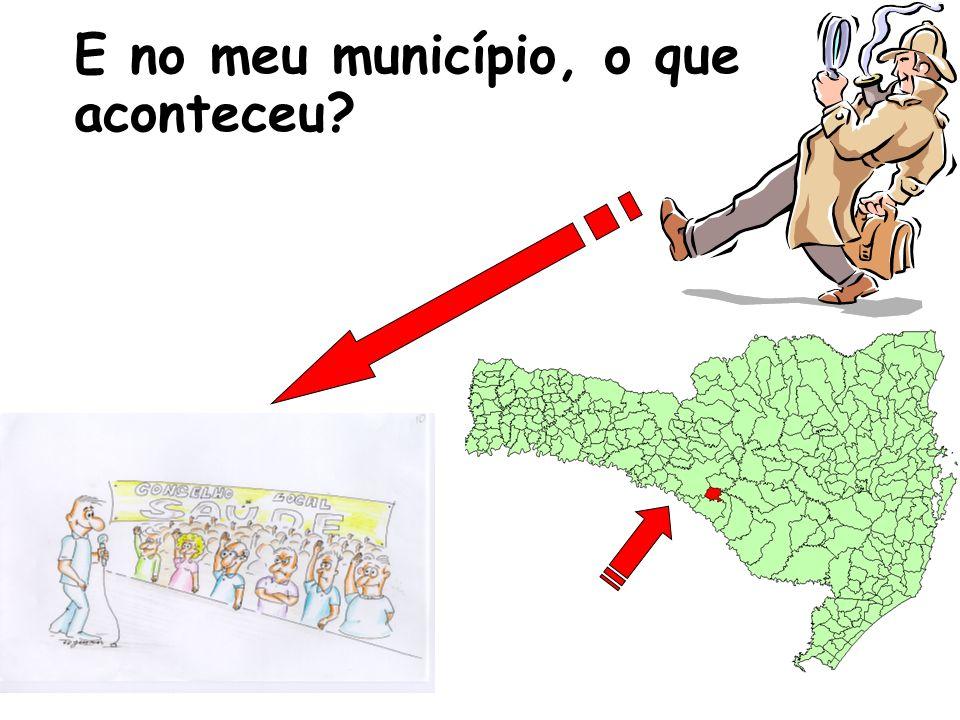 E no meu município, o que aconteceu