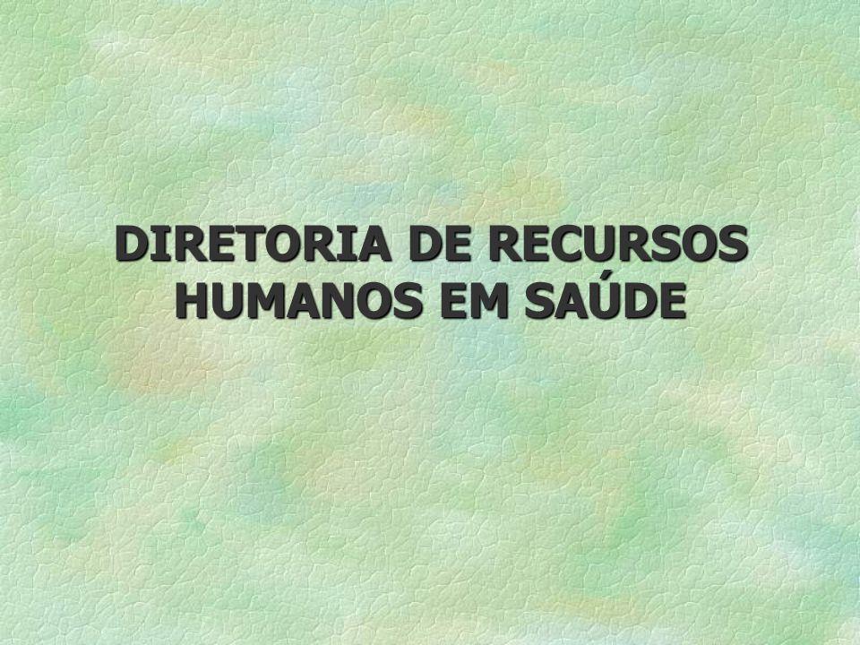 DIRETORIA DE RECURSOS HUMANOS EM SAÚDE