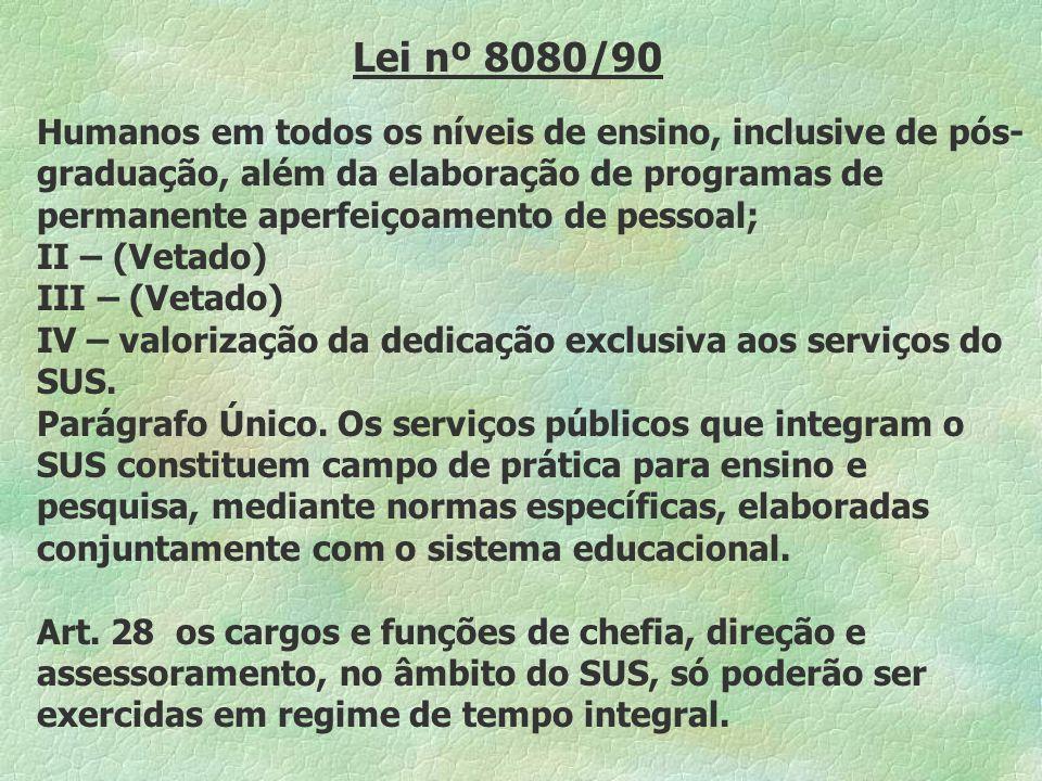 Lei nº 8080/90