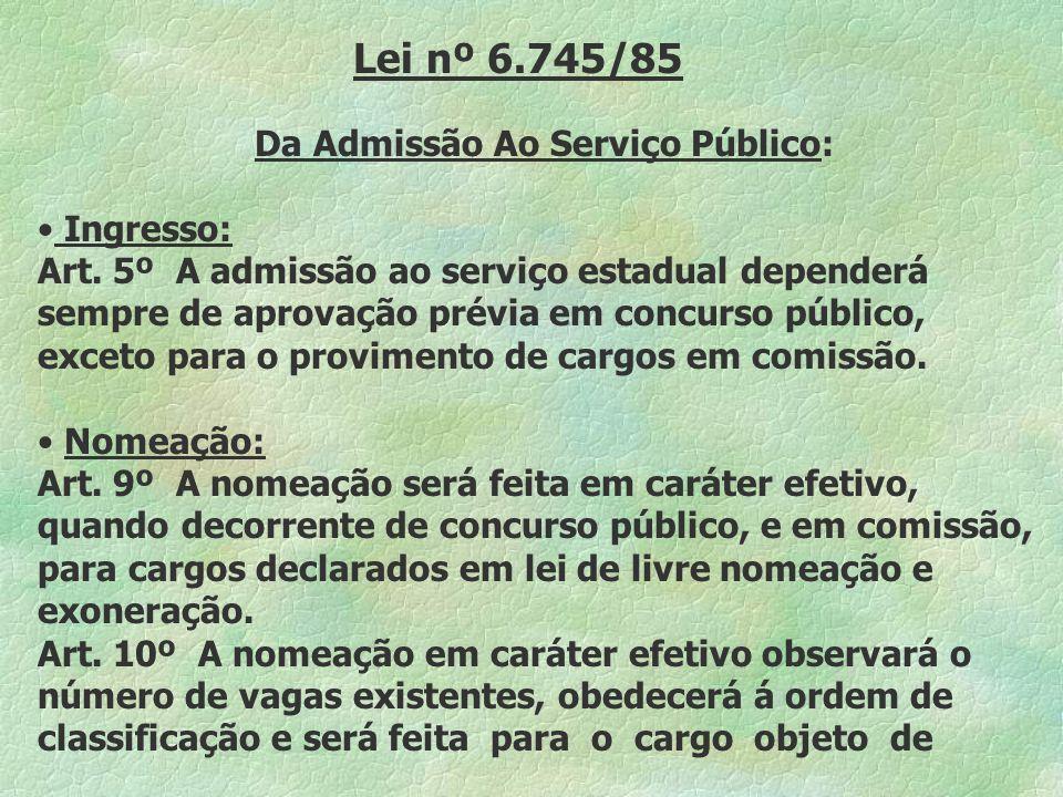 Da Admissão Ao Serviço Público:
