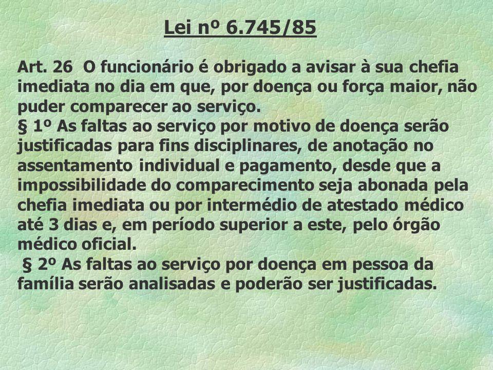 Lei nº 6.745/85