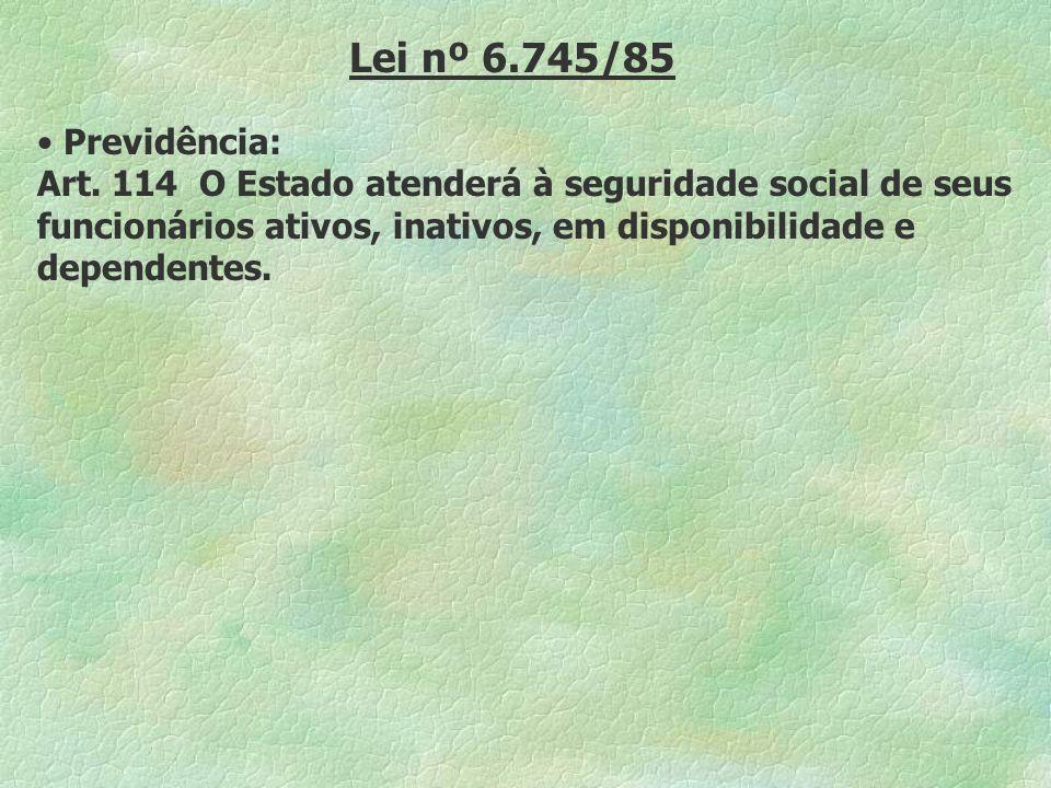 Lei nº 6.745/85Previdência: Art.