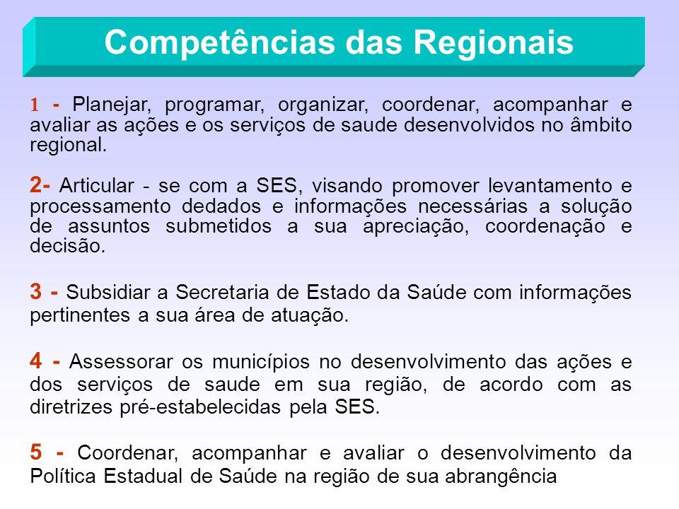 Competências das Regionais