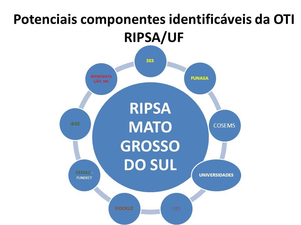 Potenciais componentes identificáveis da OTI RIPSA/UF