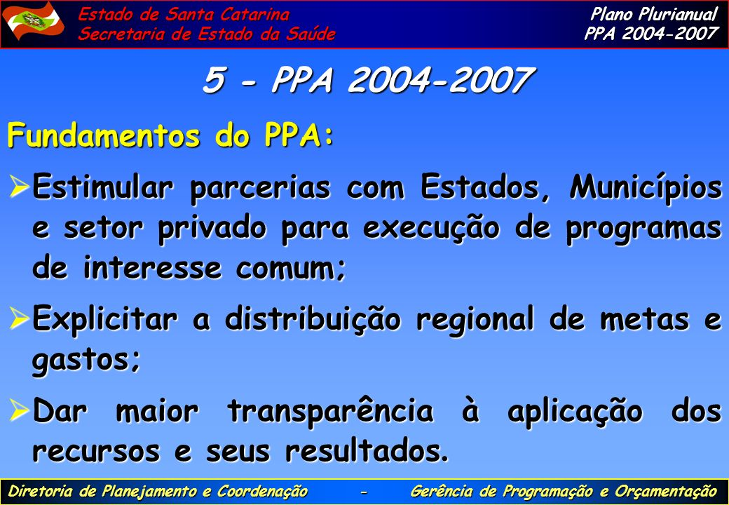5 - PPA 2004-2007 Fundamentos do PPA: