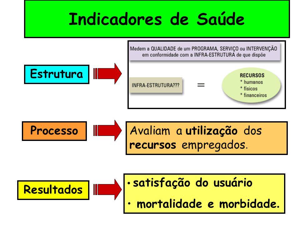 Indicadores de Saúde Estrutura Processo