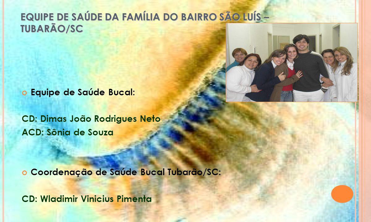 EQUIPE DE SAÚDE DA FAMÍLIA DO BAIRRO SÃO LUÍS – TUBARÃO/SC