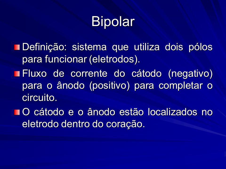 Bipolar Definição: sistema que utiliza dois pólos para funcionar (eletrodos).