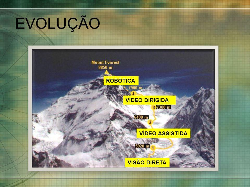 EVOLUÇÃO ROBÓTICA VÍDEO DIRIGIDA VÍDEO ASSISTIDA VISÃO DIRETA