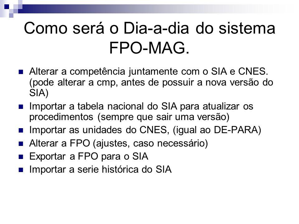 Como será o Dia-a-dia do sistema FPO-MAG.