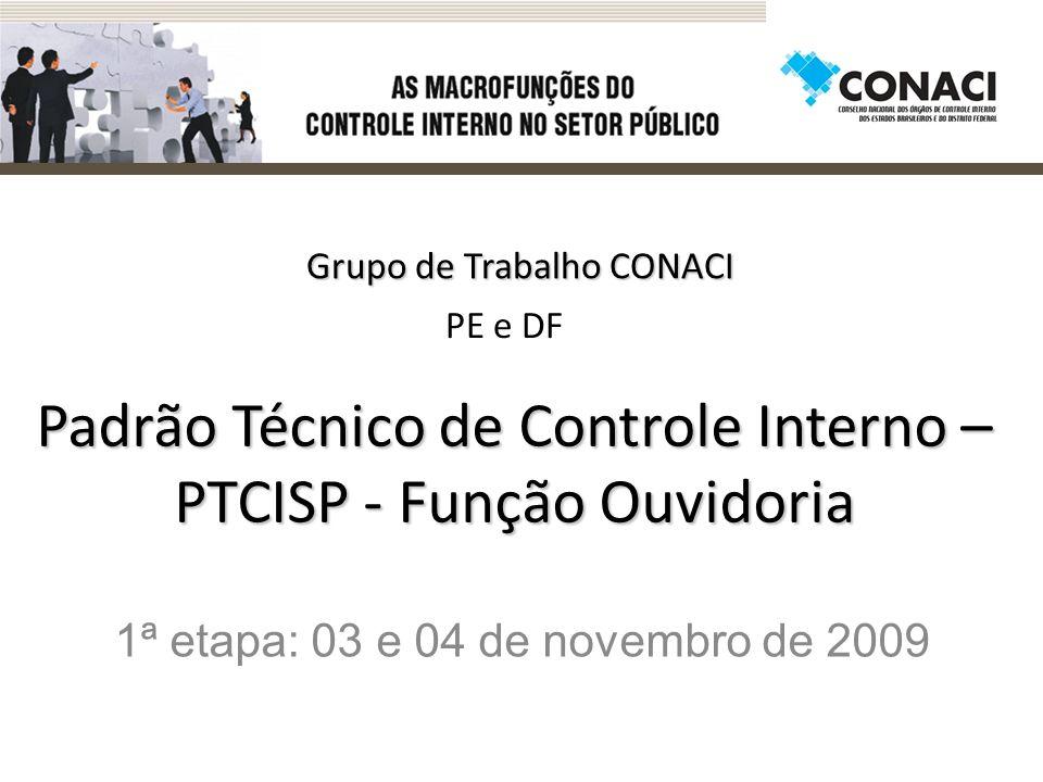 Padrão Técnico de Controle Interno – PTCISP - Função Ouvidoria