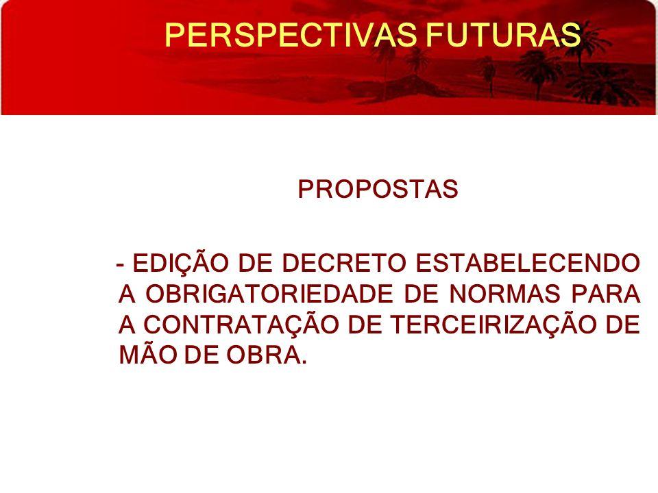 PERSPECTIVAS FUTURAS PROPOSTAS