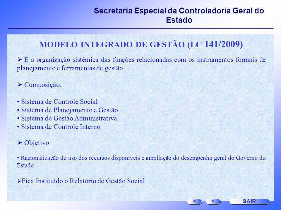 MODELO INTEGRADO DE GESTÃO (LC 141/2009)