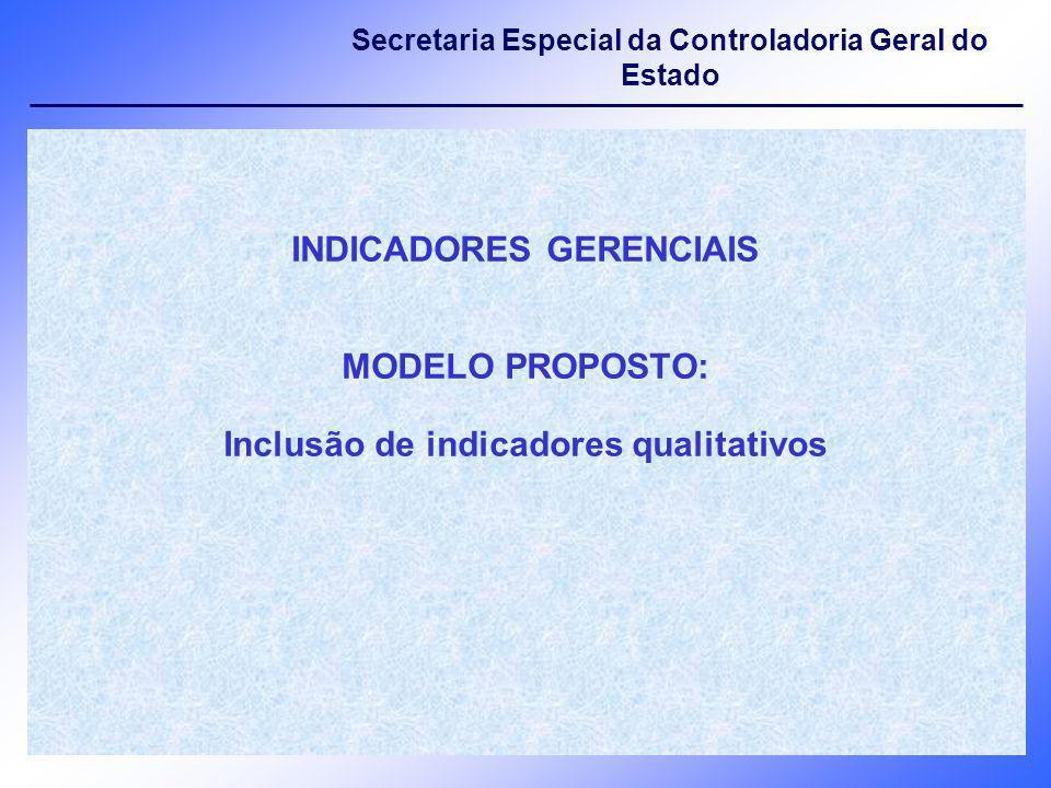 INDICADORES GERENCIAIS Inclusão de indicadores qualitativos