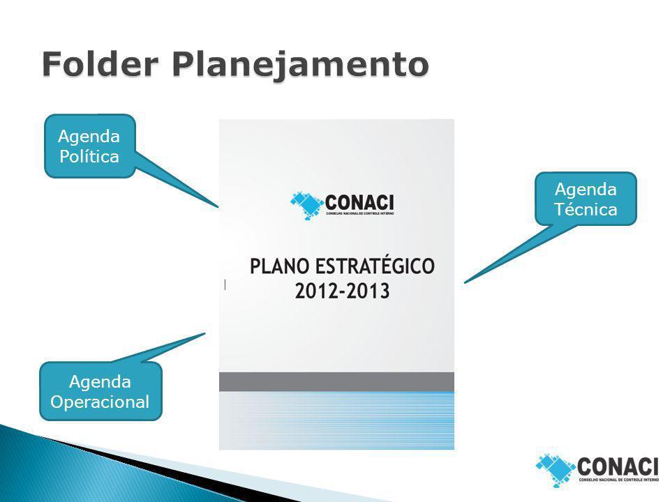 Folder Planejamento Agenda Política Agenda Técnica Agenda Operacional