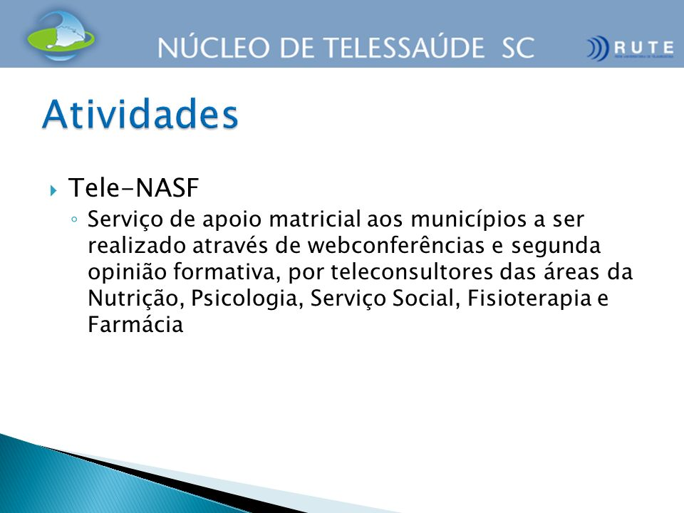 Atividades Tele-NASF.