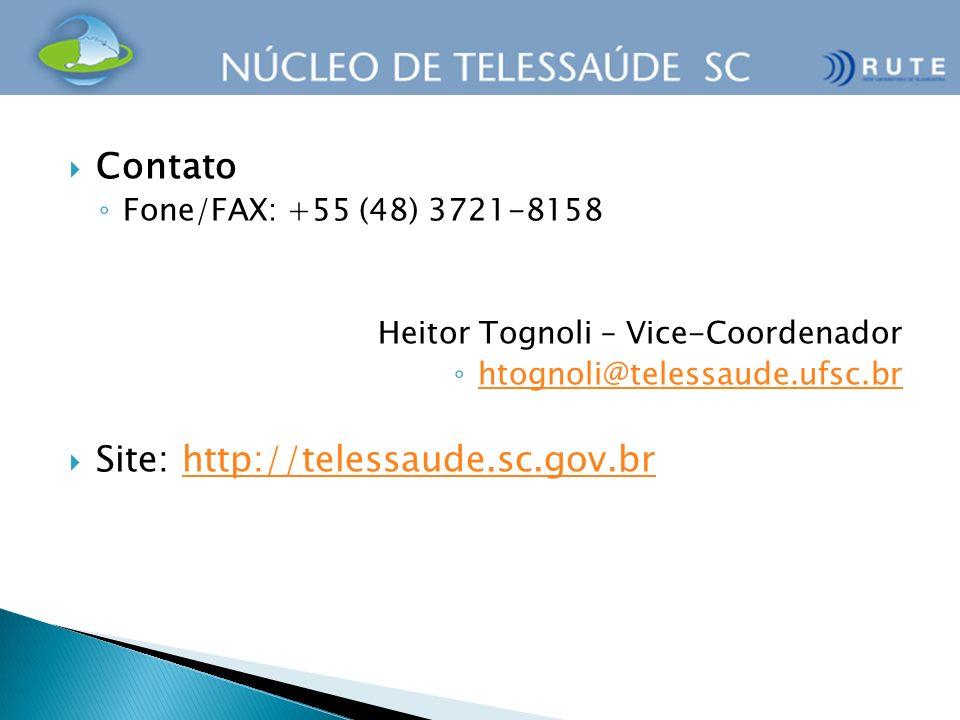 Site: http://telessaude.sc.gov.br