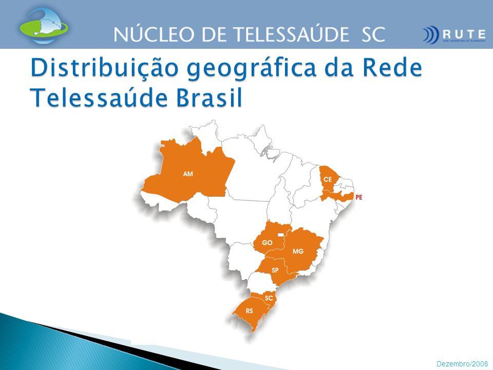 Distribuição geográfica da Rede Telessaúde Brasil