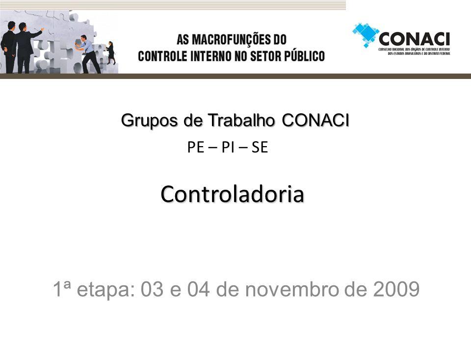 1ª etapa: 03 e 04 de novembro de 2009