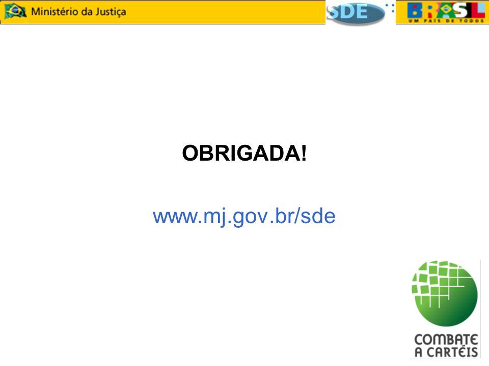 OBRIGADA! www.mj.gov.br/sde
