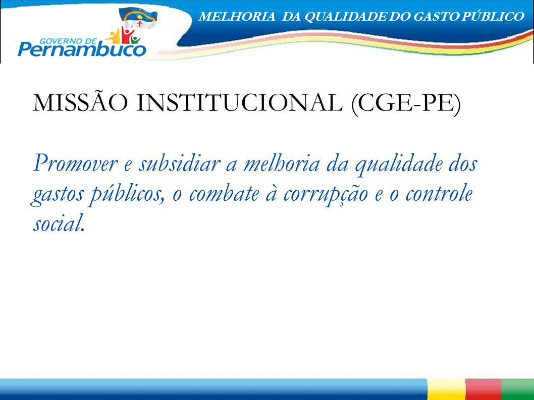 MISSÃO INSTITUCIONAL (CGE-PE)