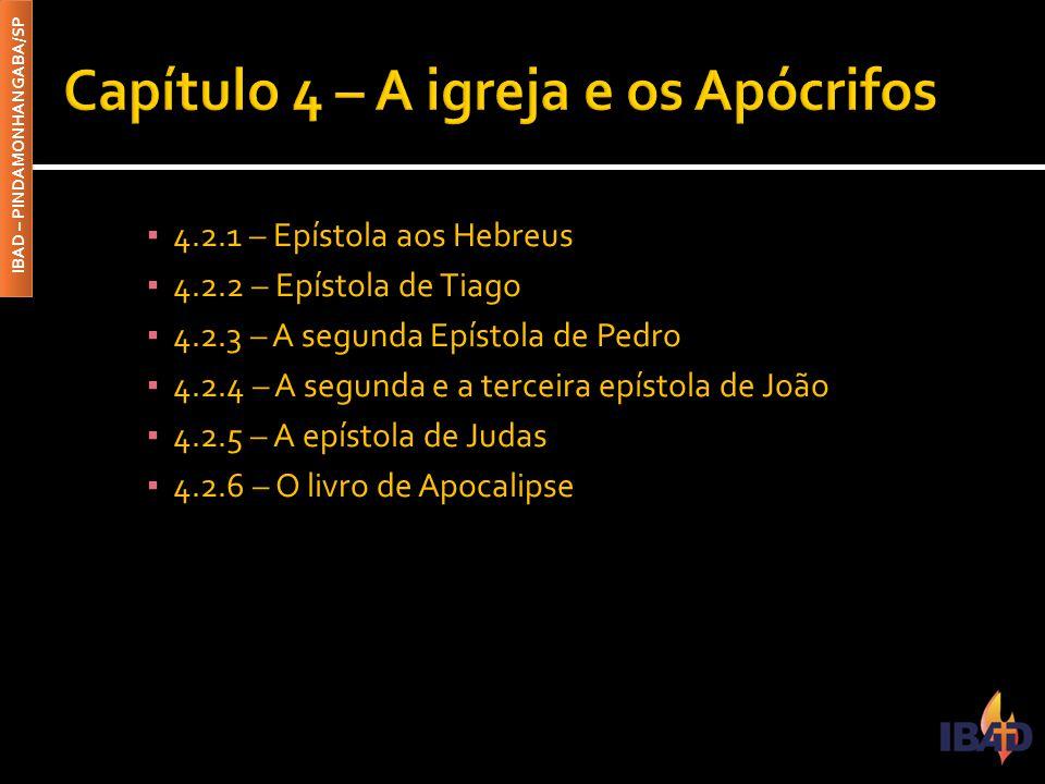 Capítulo 4 – A igreja e os Apócrifos