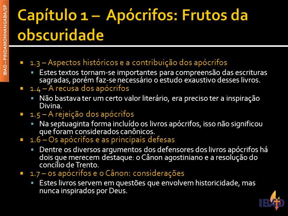Capítulo 1 – Apócrifos: Frutos da obscuridade