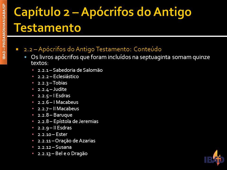 Capítulo 2 – Apócrifos do Antigo Testamento