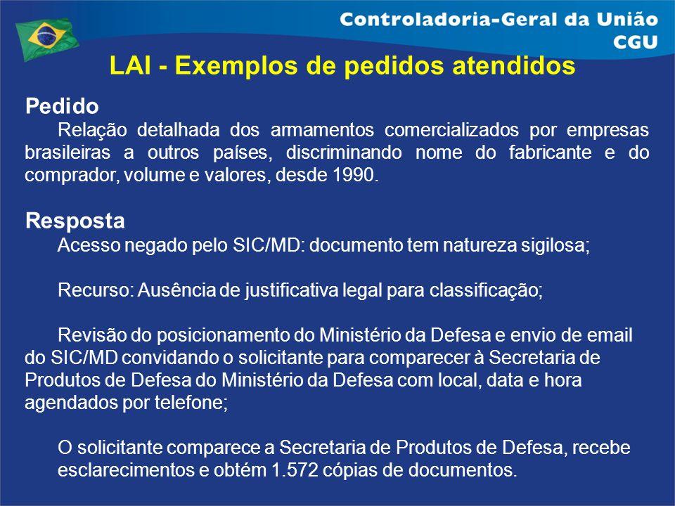 LAI - Exemplos de pedidos atendidos