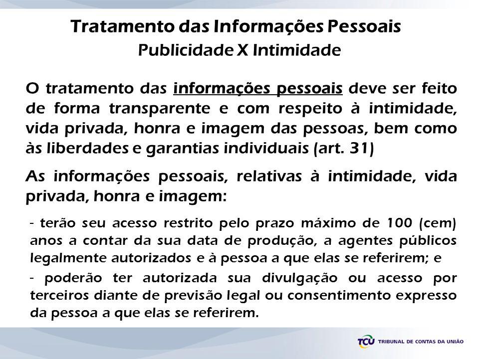 Tratamento das Informações Pessoais