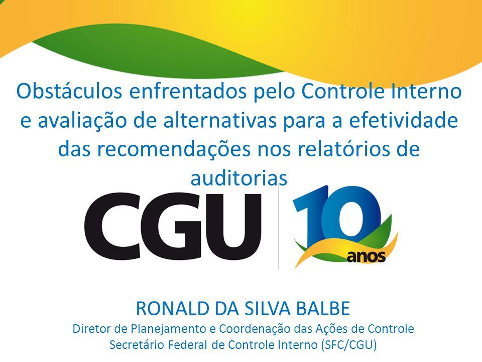 Obstáculos enfrentados pelo Controle Interno e avaliação de alternativas para a efetividade das recomendações nos relatórios de auditorias