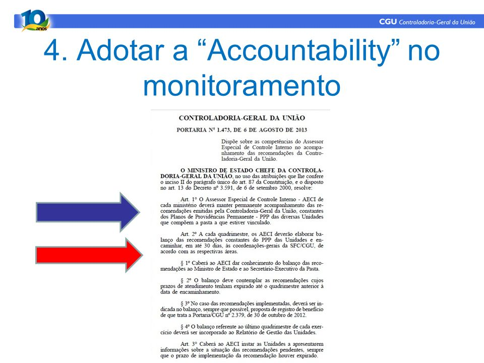 4. Adotar a Accountability no monitoramento