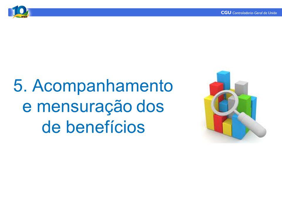 5. Acompanhamento e mensuração dos de benefícios