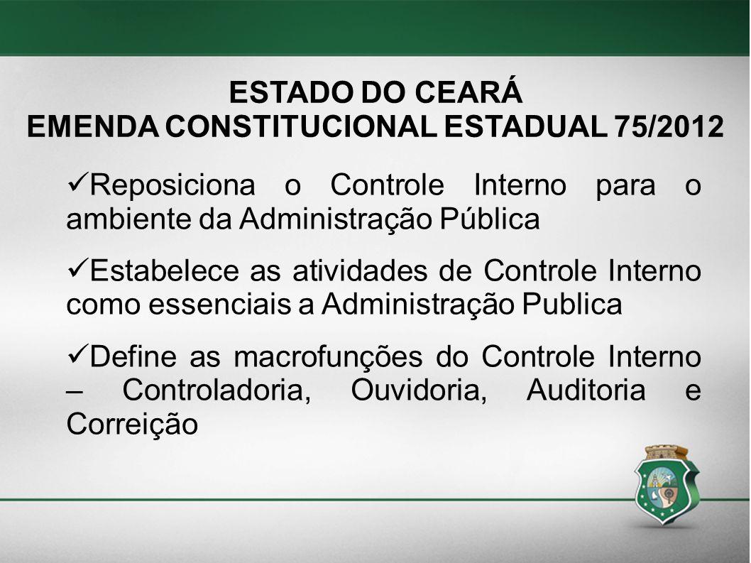 EMENDA CONSTITUCIONAL ESTADUAL 75/2012