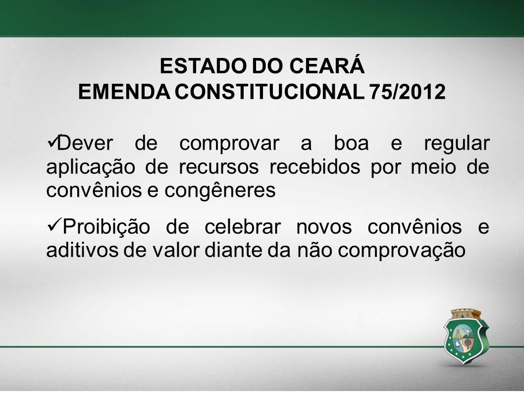 EMENDA CONSTITUCIONAL 75/2012