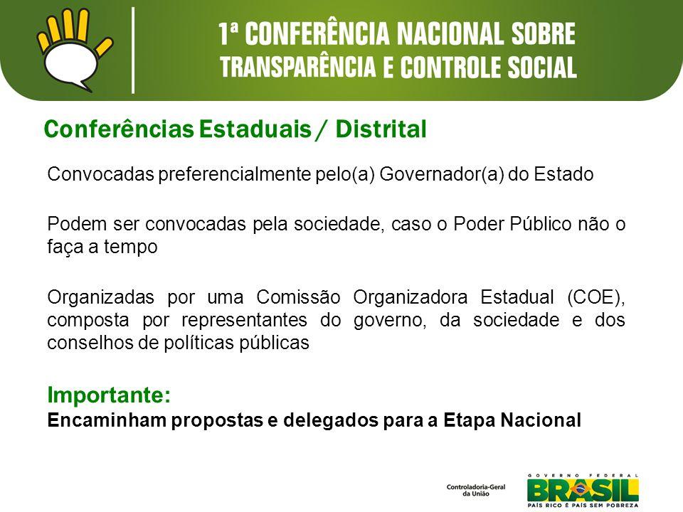 Conferências Estaduais / Distrital