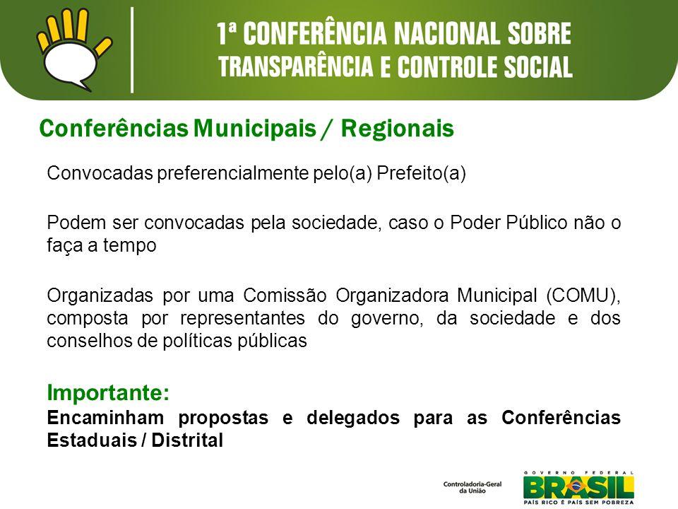 Conferências Municipais / Regionais