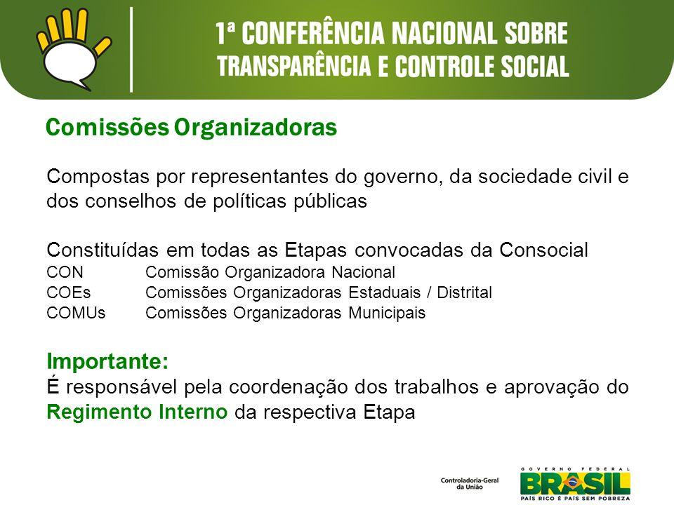 Comissões Organizadoras