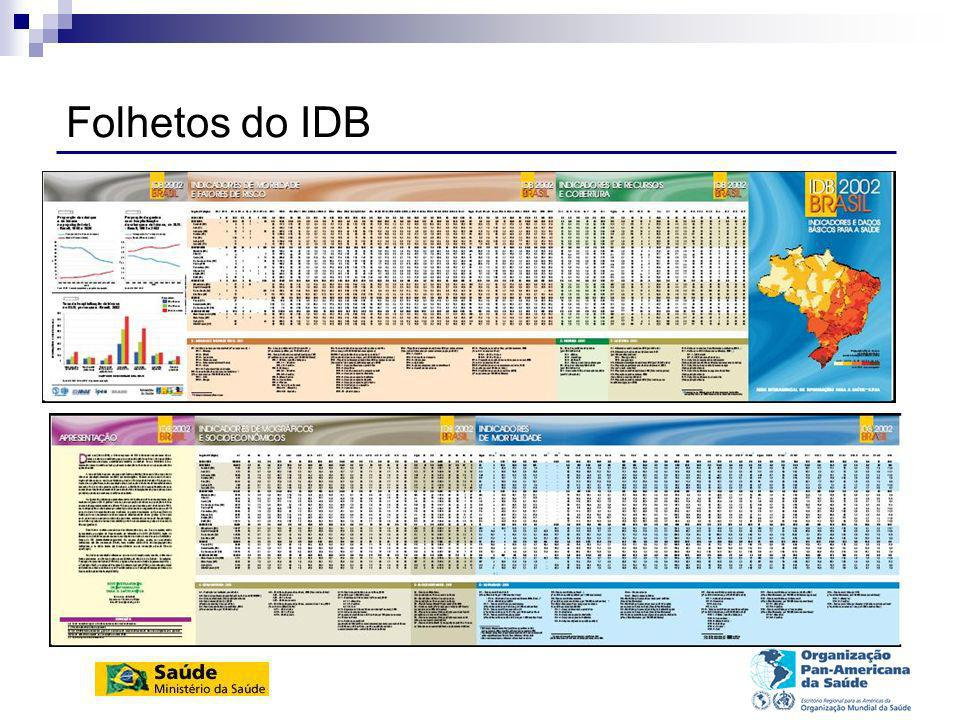 Folhetos do IDB