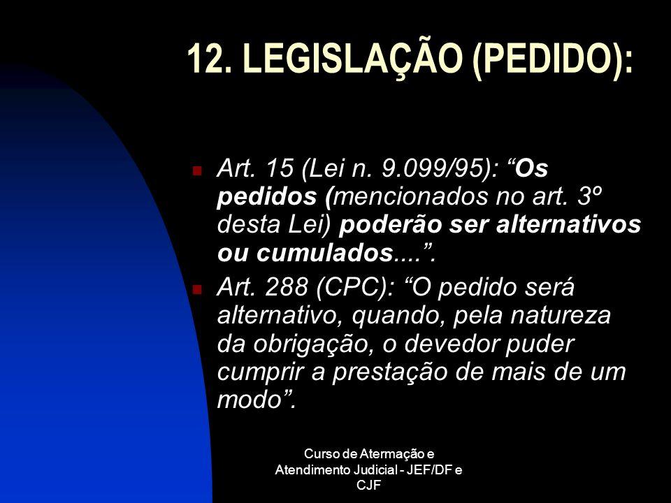 Curso de Atermação e Atendimento Judicial - JEF/DF e CJF