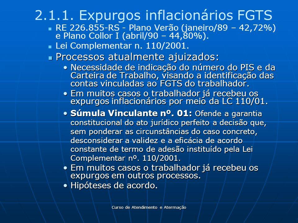 2.1.1. Expurgos inflacionários FGTS