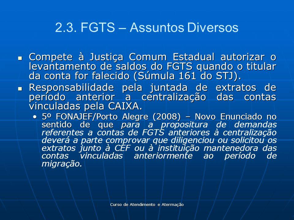 2.3. FGTS – Assuntos Diversos