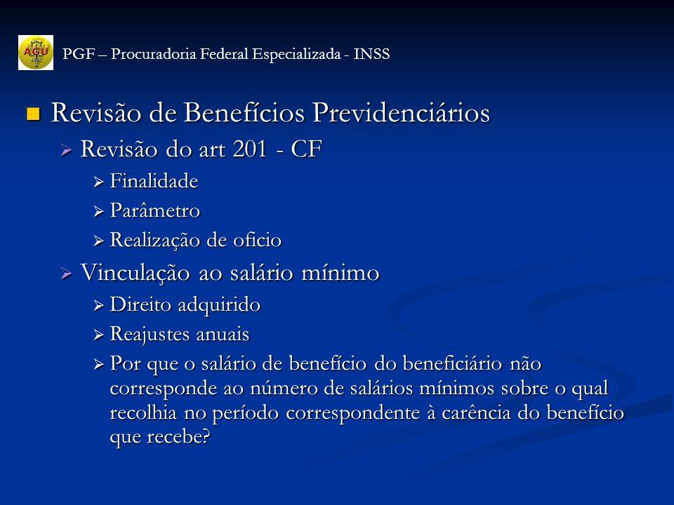 Revisão de Benefícios Previdenciários