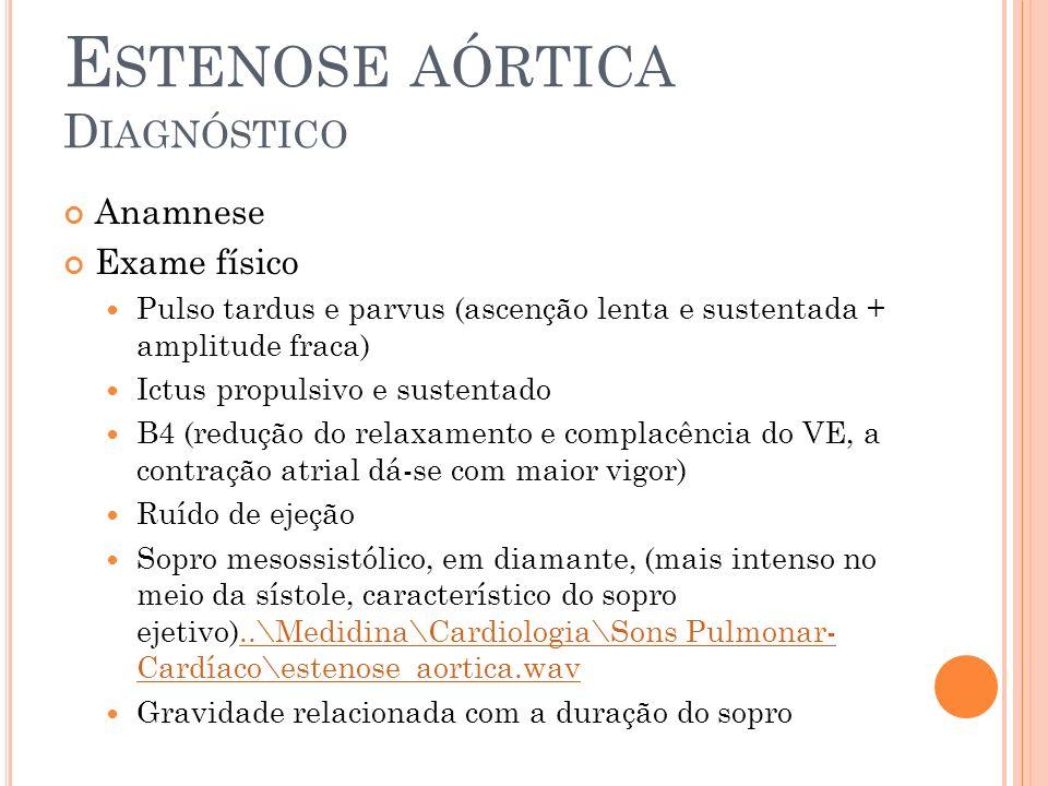 Estenose aórtica Diagnóstico