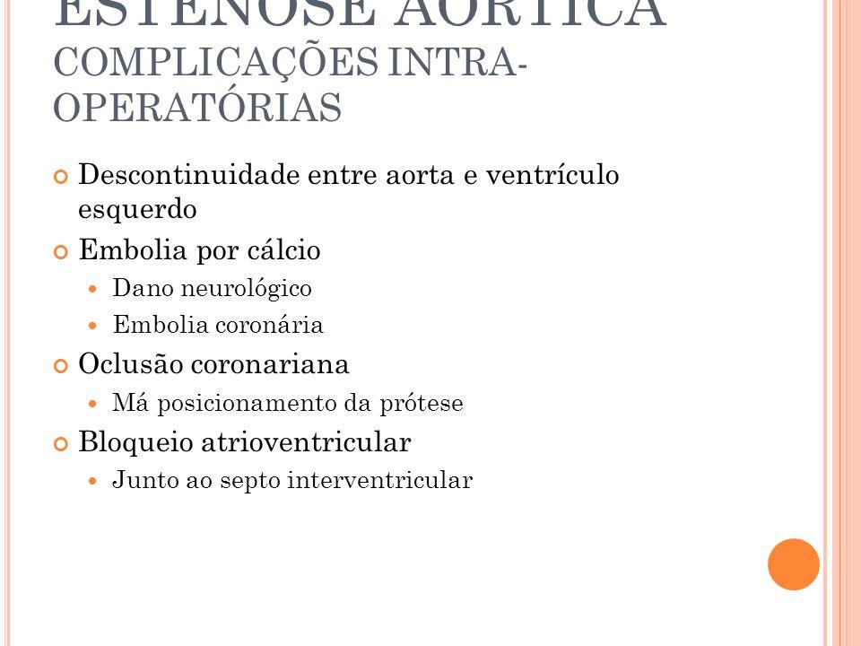 ESTENOSE AÓRTICA COMPLICAÇÕES INTRA-OPERATÓRIAS