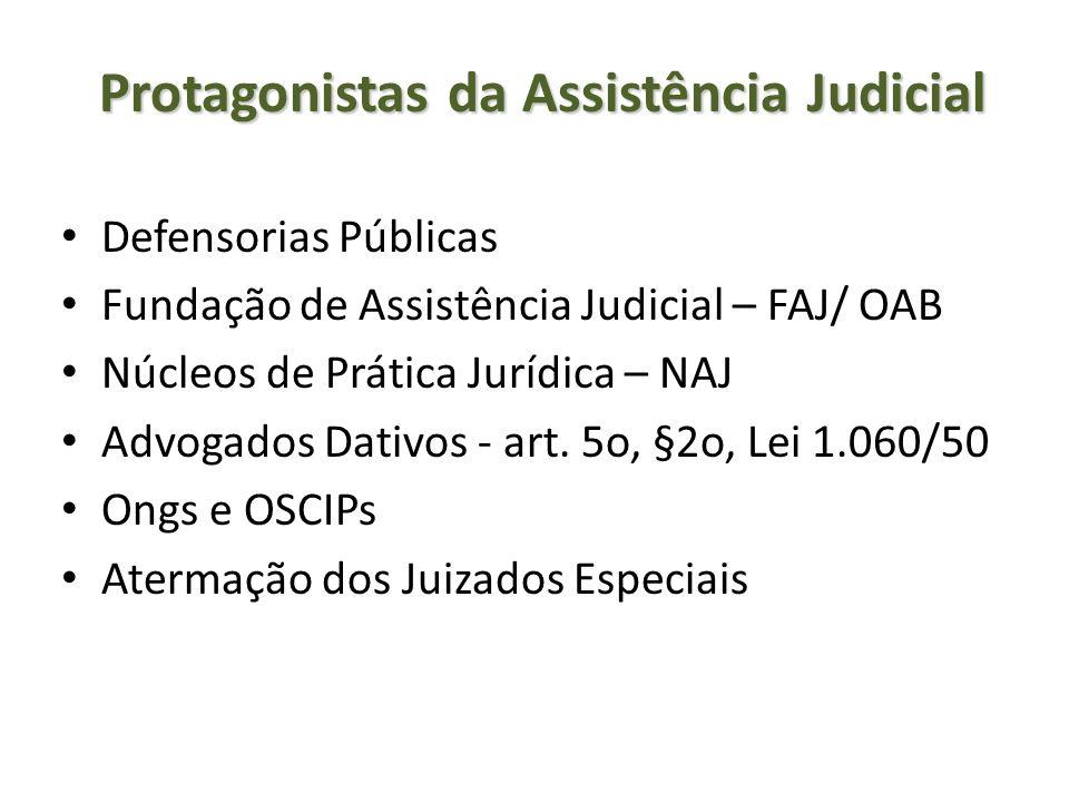 Protagonistas da Assistência Judicial