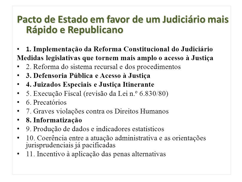 Pacto de Estado em favor de um Judiciário mais Rápido e Republicano